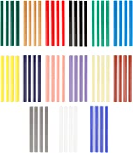 WWYICHEN 60 Pieces Mini Hot Glue Gun Sticks 7 mm by 10 mm Hot Melt Glue Sticks for DIY Art Craft, 15 Colors