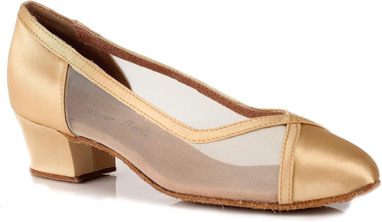 BlueBell Shoes Handmade Women's Ballroom Salsa Wedding Competition Dance Shoes Leslie 1.6