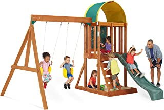 Big Backyard KidKraft Andorra Cedar Wood Swing Set / Playset F24140