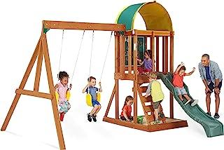 Big Backyard KidKraft Andorra Cedar Wood Swing Set / Playset F24140