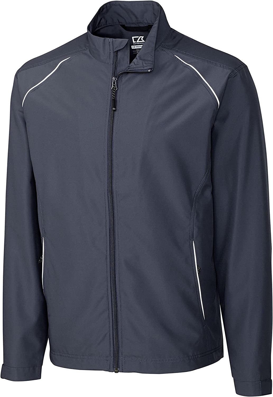 Cutter & Buck Big and Tall CB WeatherTec Beacon Full-Zip Jacket (5XL, Dark Grey)