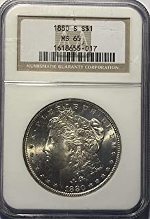1880 S Silver Morgan Dollar Wild West Era Dollar MS-65 PCGS