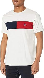 Original Penguin Men's Standard Color Block Chest Stripe Short Sleeve Tee