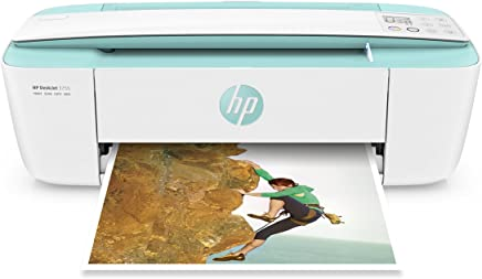 $55 Get HP DeskJet 3755 Compact All-in-One Wireless Printer with Mobile Printing, HP Instant Ink & Amazon Dash Replenishment ready - Seagrass Accent (J9V92A) (Certified Refurbished)