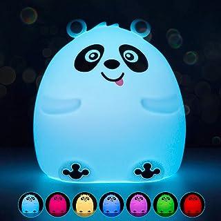 Litake Cute Night Light for Kids, Silicone Nursery Baby Panda Night Lights 7 Color Changing Kawaii Cute Lamp Panda Nightli...