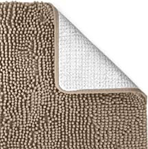 Vedouci 24x17 Inch Chenille Non-Slip Mats,Extra Soft and Microfiber Bath Rugs,Super Absorbent and Machine Washable Bath Ma...