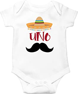 1st Birthday Uno Bodysuits Fiesta Themed First Birthday Sombrero Birthday Bodysuit Mustache Birthday Outfit for Baby Boy