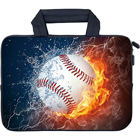Baseball USA Flag Laptop Sleeve Case Bag Cover for 13-15 Inch Notebook Computer