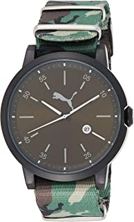 Puma Mens Quartz Watch, Analog Display and Nylon Strap PU104231004