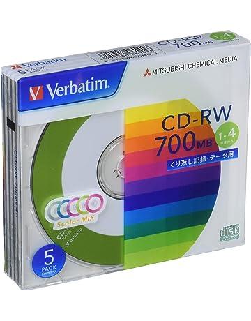 [CD-RW80X10CCS] 4倍速カラーミックス CD-RWデータ用700MB 5mm厚ケース入り10枚パック TDK