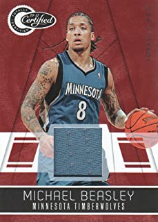2010-11 Totally Certified Red Jersey #132 Michael Beasley /249 Timberwolves