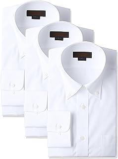 [スティングロード] 長袖 3枚セット ボタンダウン 白ワイシャツ 形態安定 綿高率混 レギュラーフィット MA1113-BD-3 メンズ