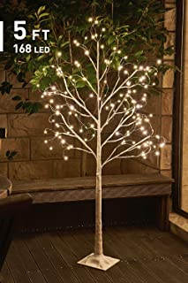 EAMBRITE 5FT 168LT LED Starlit Birch Tree with Fairy Light Decor Home Holiday Wedding Party