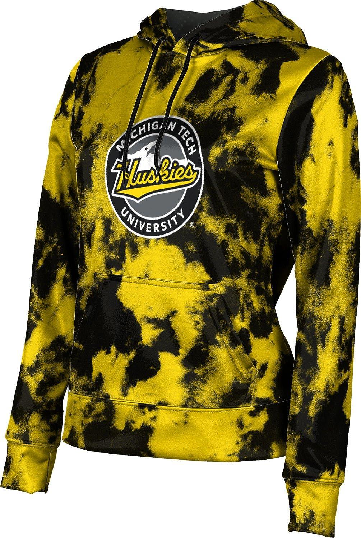 ProSphere Michigan Technological University Girls' Pullover Hoodie, School Spirit Sweatshirt (Grunge)