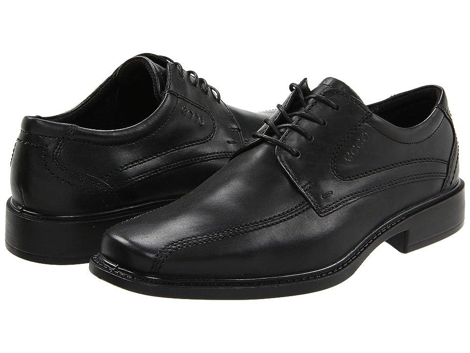 ECCO New Jersey Tie (Black Santiago Full-Grain Leather) Men