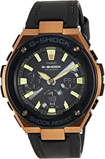 G-Shock Steel Black Dial Leather Strap Men's Watch GST-S120L-1A