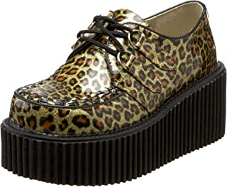 red leopard print creepers