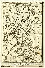 Historic 1873 Map - Moosehead Lake 44in x 66in
