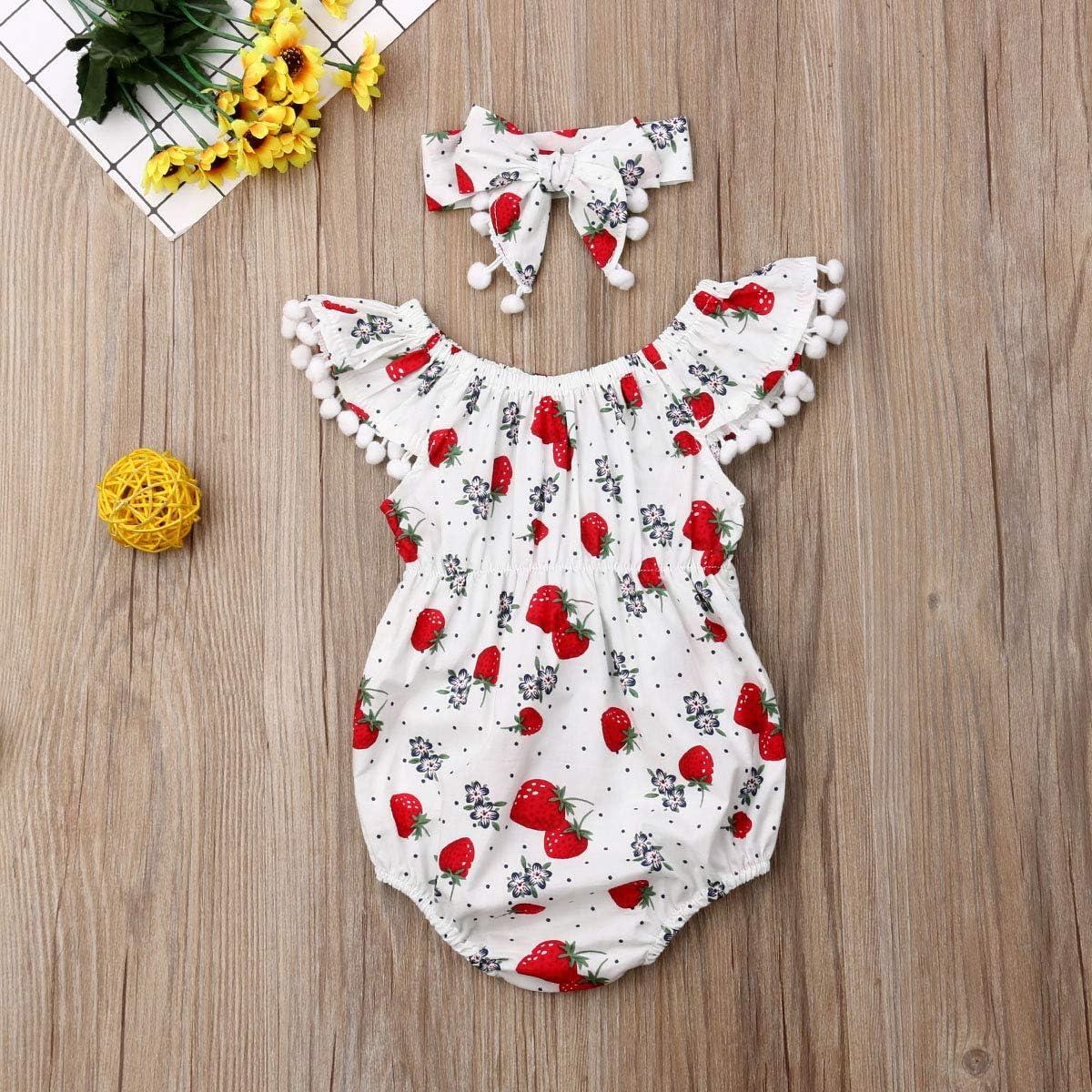 Newborn Infant Baby Girl Clothes Lace Halter Backless Jumpsuit Romper Bodysuit Sunsuit Outfits Set