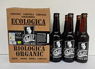 Cerveza artesana ecológica CELEBRIDADE GALEGA Espelta Negra caja de 6 x 33cl.
