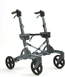 Volaris All-Terrain Shadow Rolling Walker with seat and Wheels, Lightweight, Folding, Aluminum …(Wide)