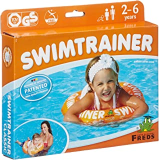 Fred's Swim Academy Child SwimTrainer Classic with Safety Straps - Orange (2 - 6 Years)
