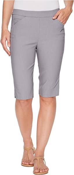 "Stretch Bengaline 13"" Bermuda Shorts with Pocket"