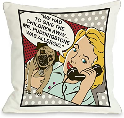 One Bella Casa Forgot To Have Kids Framed Throw Pillow W Zipper By Dog Is Good 18 X 18 Home Kitchen