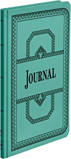 Boorum & Pease 66 Series Account Book, Journal Ruled, Green, 150 Pages, 12-1/8