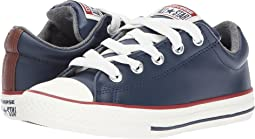 Chuck Taylor All Star Street Leather and Fleece Slip (Little Kid/Big)