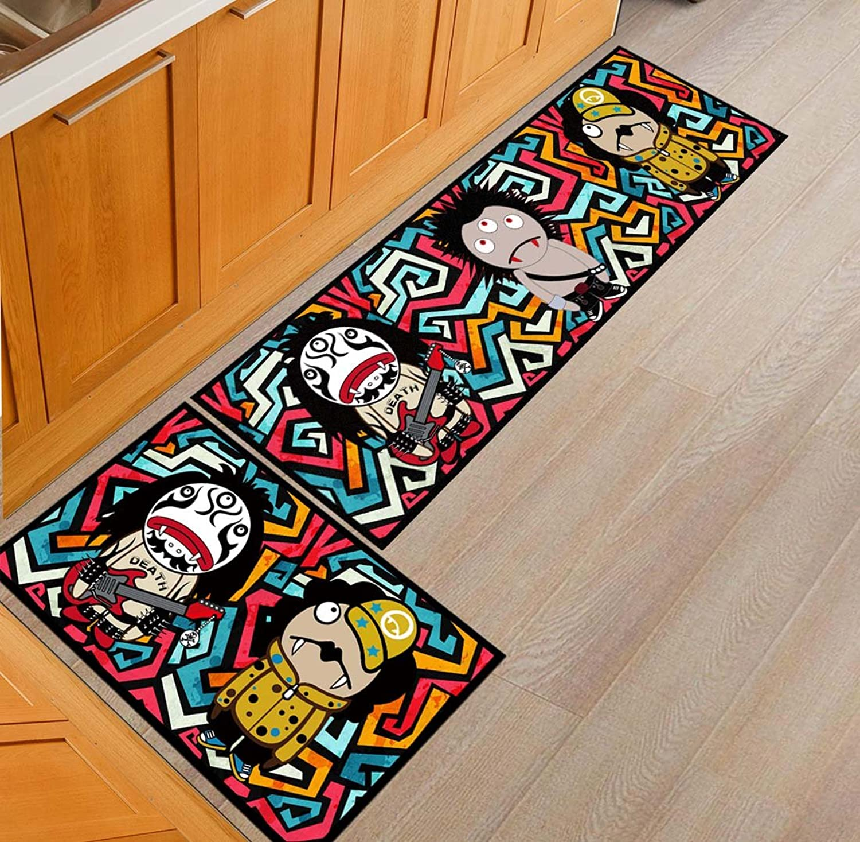 Babe MAPS Indoor Outdoor Doormat Entrance Welcome Mat Absorbent Runner Inserts Non Slip Entry Rug Funny Funny Little Devil, Home Decor Inside shoes Scraper Floor Carpet 19 x31