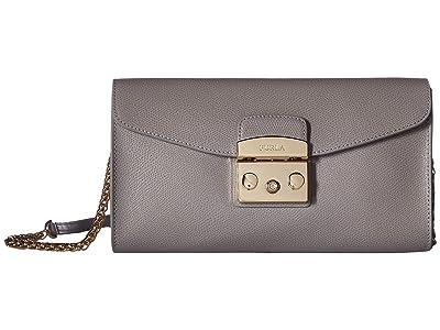 Furla Metropolis Small Pochette w/ Chain (Onice) Handbags