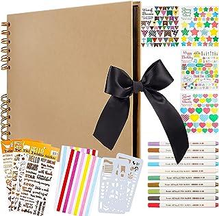 Album Photo Scrapbooking, Albums Photos 80 Pages Scrapbooking Livre Photo DIY avec 10 Marqueurs Métalliques, Kit Scrapbook...