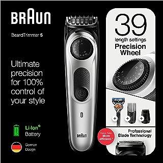 Braun BT 5265,Beard Trimmer for Men Cordless & Rechargeable Hair Clipper, Mini Foil Shaver with Gillette ProGlide Razor, B...