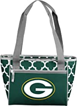 Logo Brands NFL Green Bay Packers 16 Cooler Can Tote, Hunter, One Size