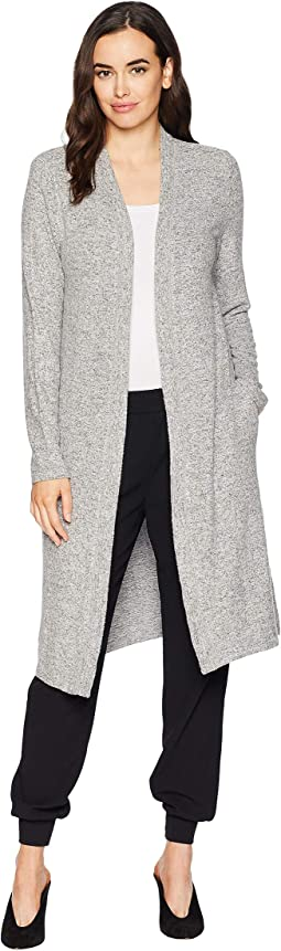 Luxe Soft Marled Sweater Fleece Long Cardigan