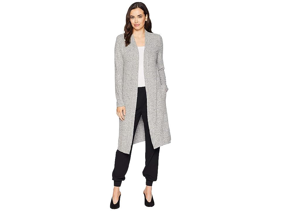 Dylan by True Grit Luxe Soft Marled Sweater Fleece Long Cardigan (Heather Grey) Women's Sweater, Gray