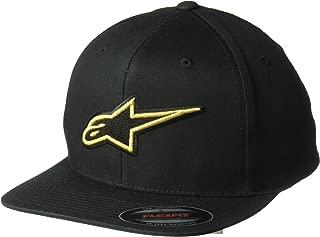 Men's Logo Flexfit Hat Flat Bill Structured Crown
