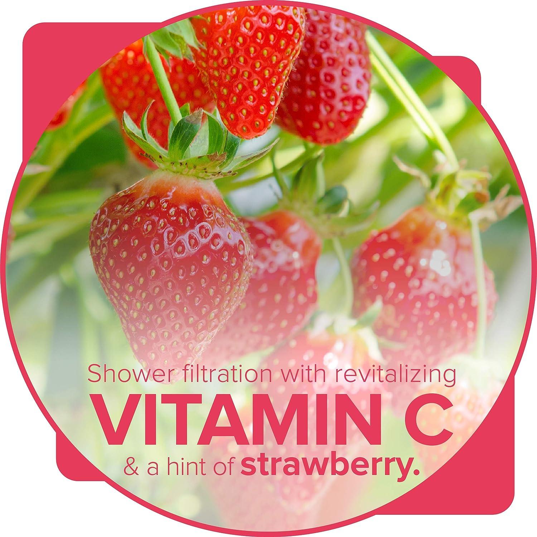 Filtered Shower Water for Healthier Skin /& Hair Easy Installation Cherry Blossom Essence Scent Filters Contaminants like Free Chlorine Brondell VivaSpring Vitamin C Shower Filter