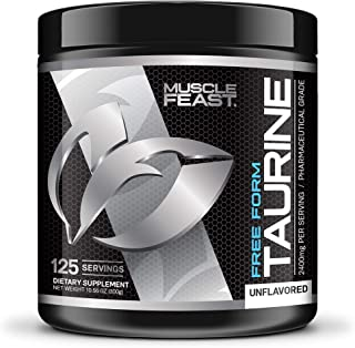 L-Taurine Powder by Muscle Feast (300g, Unflavored)