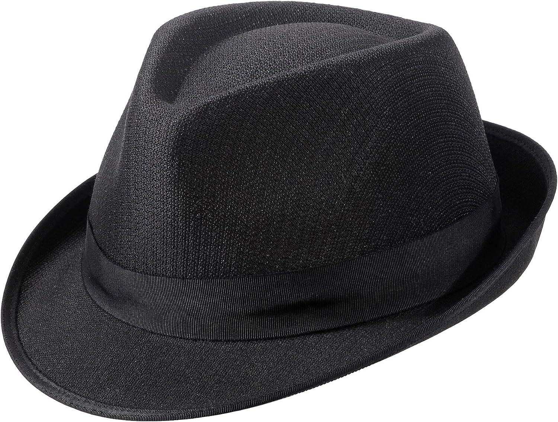 MIX BROWN Frederick Trilby Fedora Hat Crushable Short Brim Fedora Hat for Men & Women