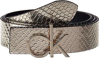 Calvin Klein CK LOW BELT REV GIFTPACK, BLACK/CHAMPAGNE, 80 CM For Women's