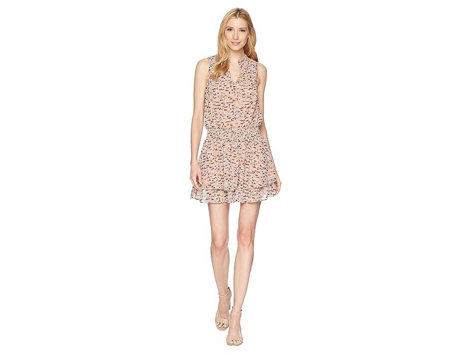 Lucky Brand Printed Drop Waist Dress (Pink Multi) Women