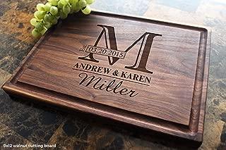 Monogram Personalized Engraved Cutting Board - Wedding, Anniversary, Housewarming, Birthday, Corporate Gift, Award, Promotion. #003