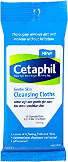 Cetaphil Gentle Cleansing Cloth, 10 Count (Pack of 1)