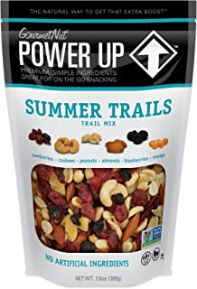 Power Up Trail Mix, Summer Trails Mix, Non-GMO, Vegan, Gluten Free, No Artificial Ingredients, Gourmet Nut, 13 Ounce Bag