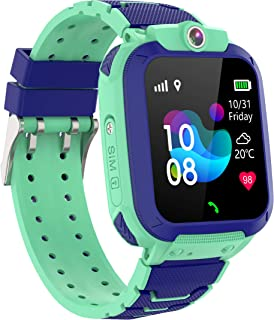 Zeerkeer Reloj Inteligente para Niños,Smartwatch Niño Impermeable con LBS + GPS Soporte SOS Cámara Juego Pantalla Táctil D...