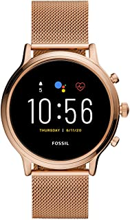 Fossil Gen 5 Julianna Rose Gold Stainless Steel Touchscreen Smartwatch with Speaker, Heart Rate, GPS, NFC, and Smartphone ...