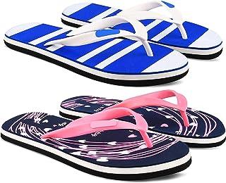 StyleArt Women's Combo of 2 Pair Flip Flops, Blue & Pink EVA Slipper for Women, Blended Combination of Luxury Style, Light...