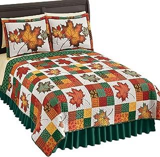 comforter set leaves